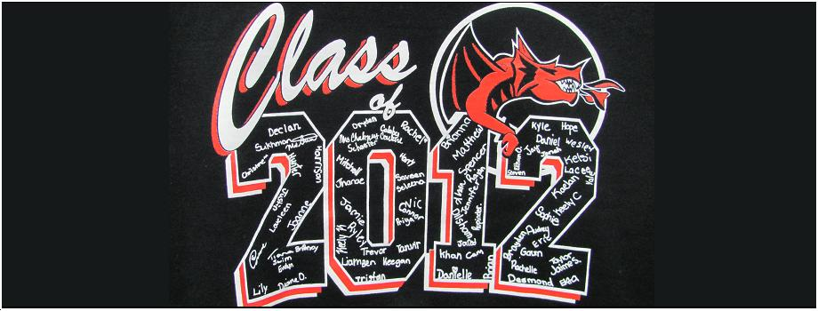 920 x 350 Banner Class of 2012 Screen printing